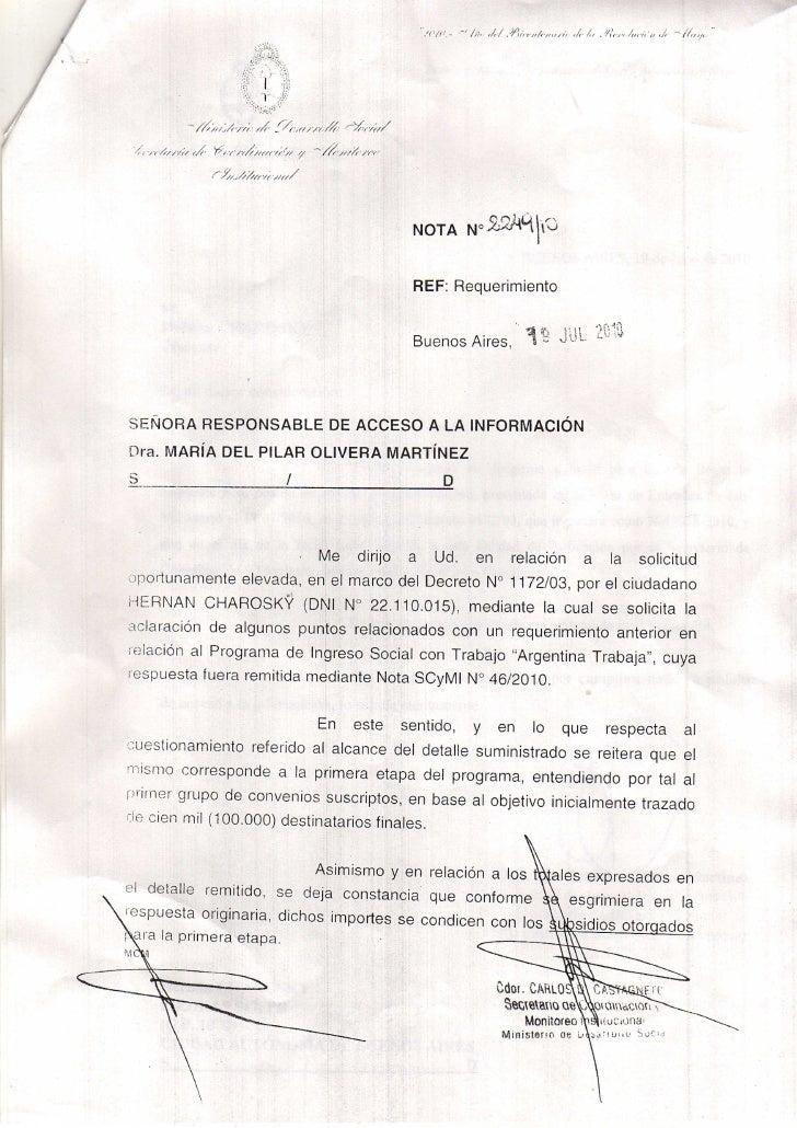 Respuesta Argentina Trabaja 19 julio