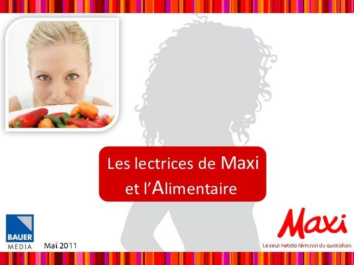 Les lectrices de Maxi  et l'Alimentaire