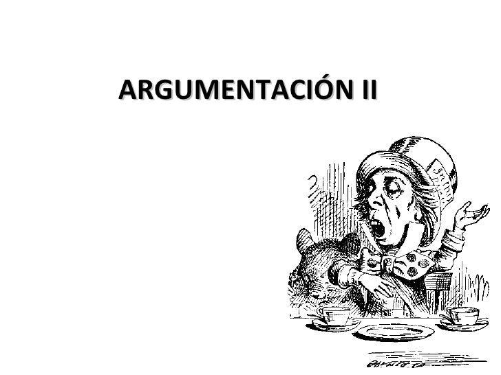 Argumentación ii