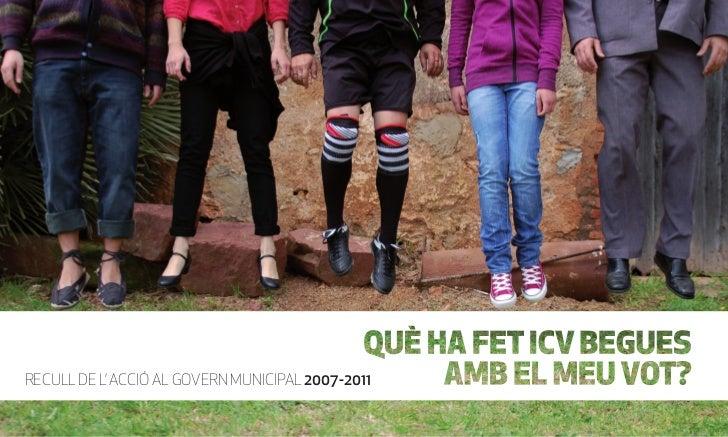 RECULL DE L' ACCIÓ AL GOVERN MUNICIPAL 2007-2011