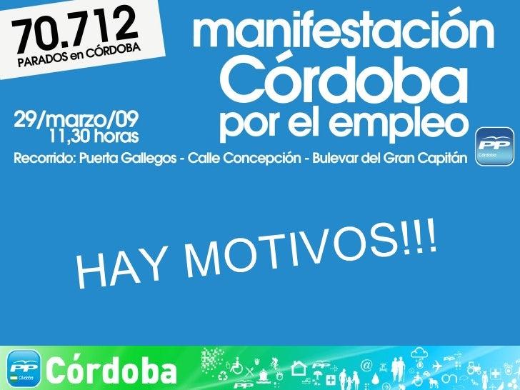 Manifestacion PP por el Empleo 29.03.09