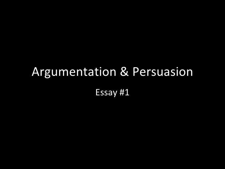 Argumentation & persuasion