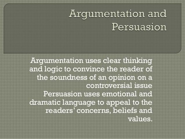 Argumentation persuasion