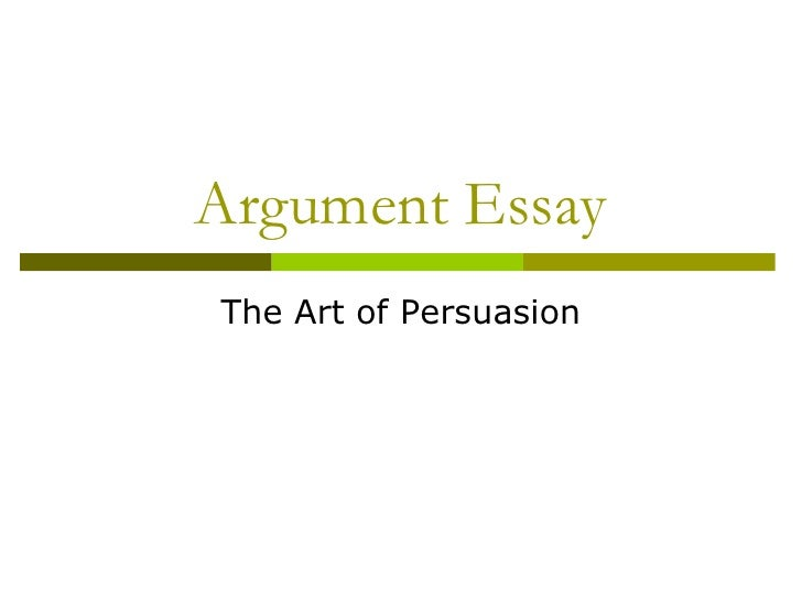Argumentation   The Art Of Persuasion (Colegio De Abogados)