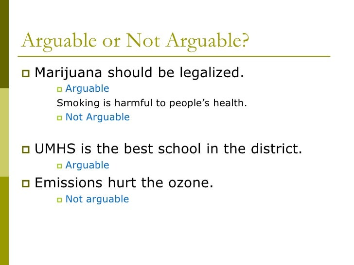 Marijuana Legalization Speech Persuasive