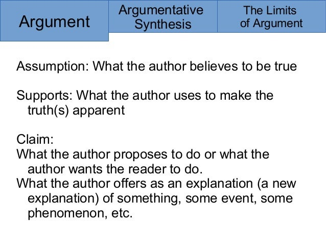 argument synthesis essays