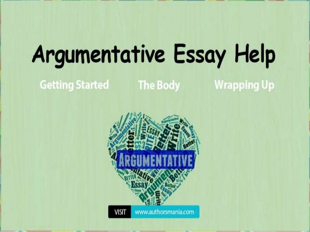 Steps To Writing An Argumentative Essay