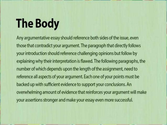 Help with argumentative essay