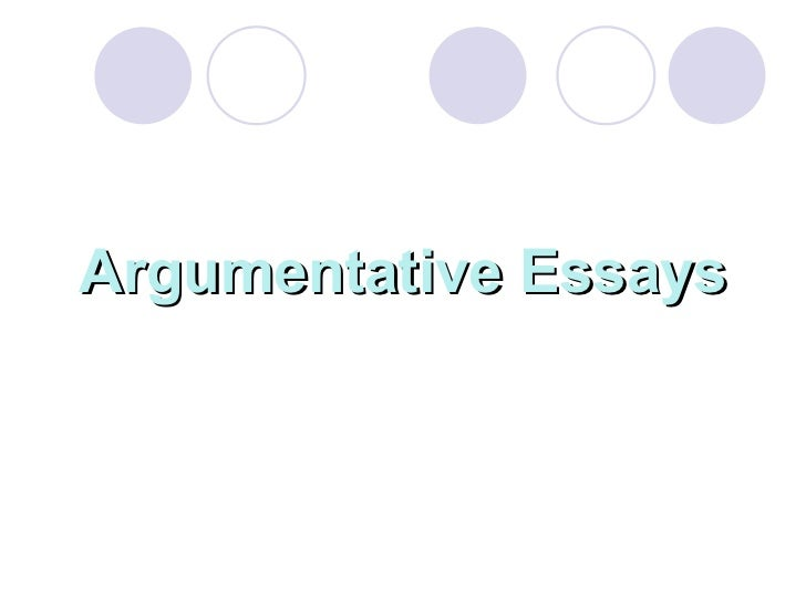 Argumentative Essay List of Topics and Articles