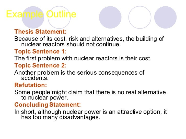 Argumentative essay outline about nuclear power