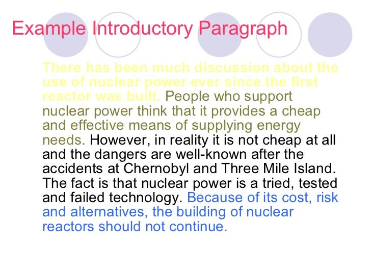 nuclear energy essay conclusion Read chapter 5 conclusions and recommendations: the construction of nuclear power plants in the united states is stopping, as regulators, reactor manufact.