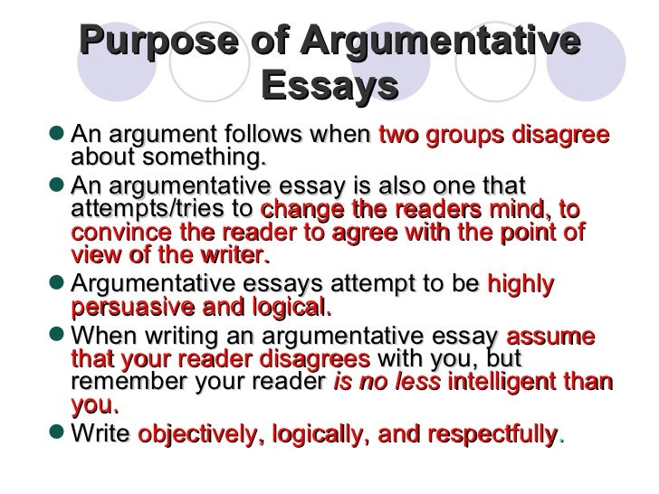 purpose of an argument essay