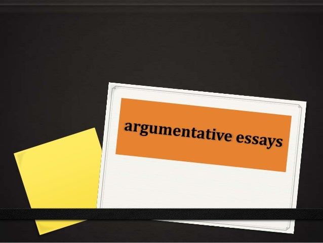 Argumentative Essay Papers
