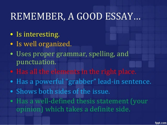 a well-defined thesis statement