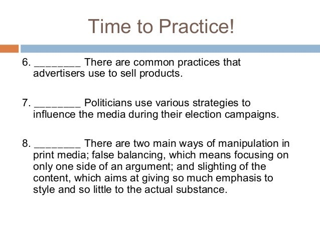 Television and Media - The Power of Advertising
