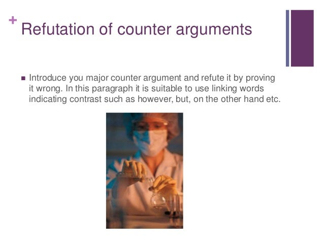 argument and counter-argument essay These owl resources will help you develop and refine the arguments in your writing welcome to the purdue owl purdue to writing a good argumentative essay or.