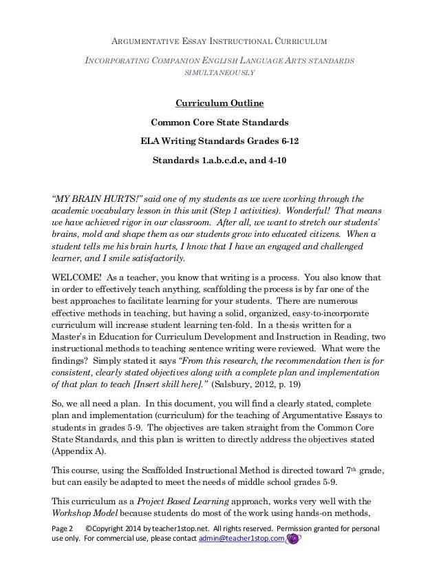 English teaching worksheets: Argumentative essay