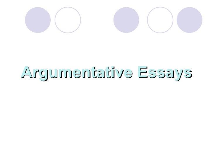Argumentative essay complied by dr. refaat bushra megalli