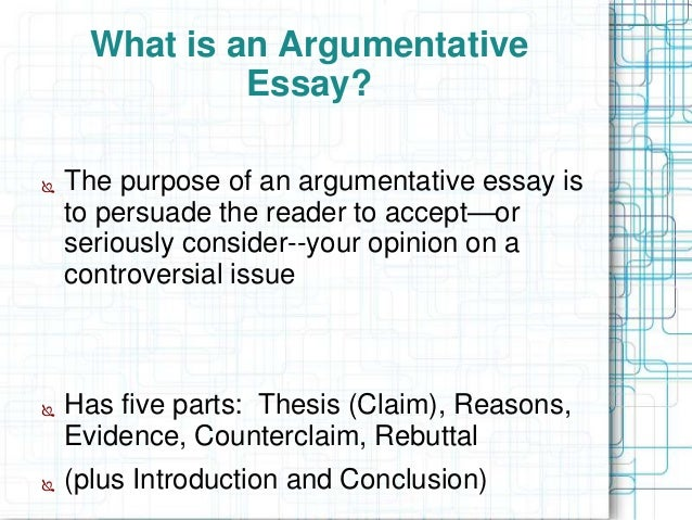 powerpoint on teaching argumentative essay