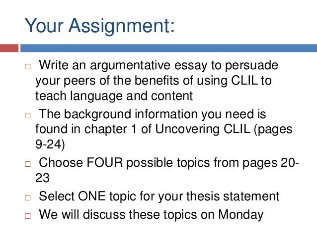 argumentative essay structure sample