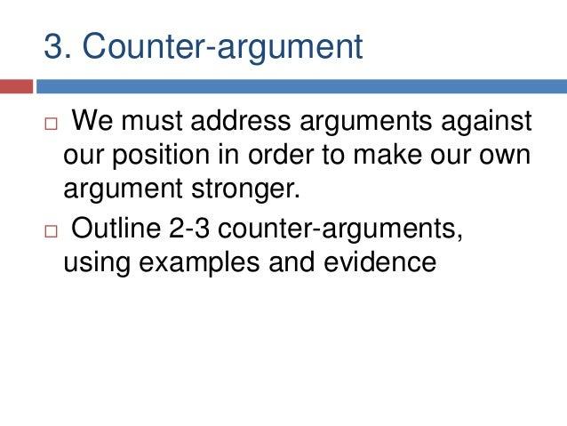 Argument and counter-argument essay