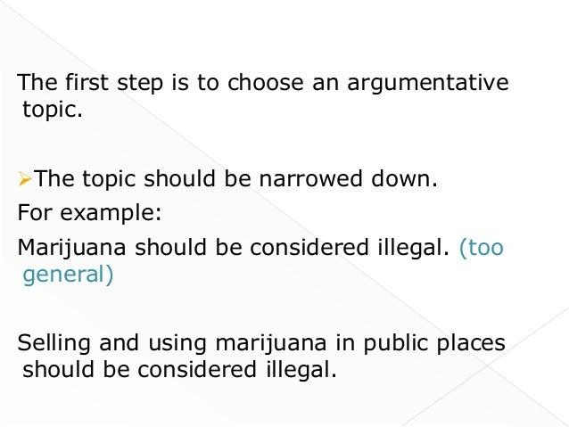 Marijuana Argumentative Essay Examples