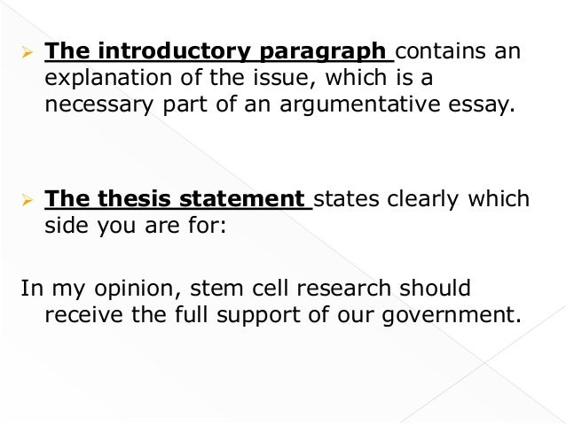 thesis statement for family essay