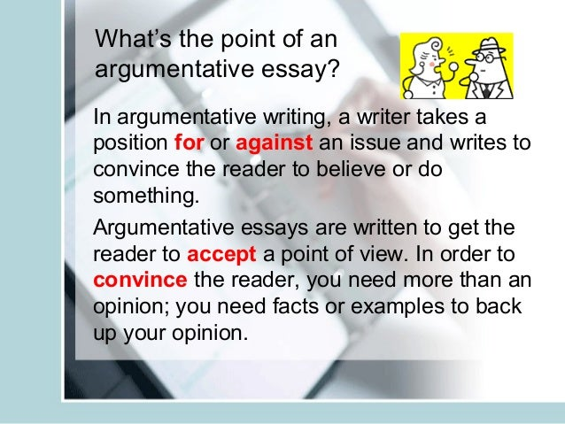 Teaching the argumentative essay