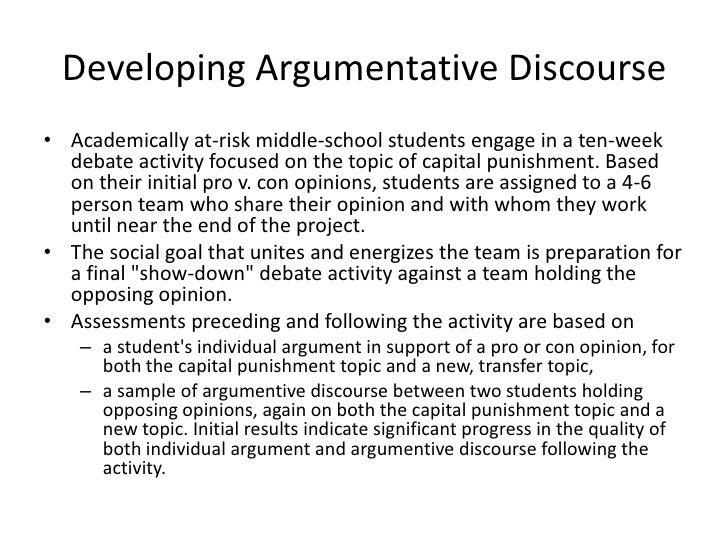 developing an argumentative essay