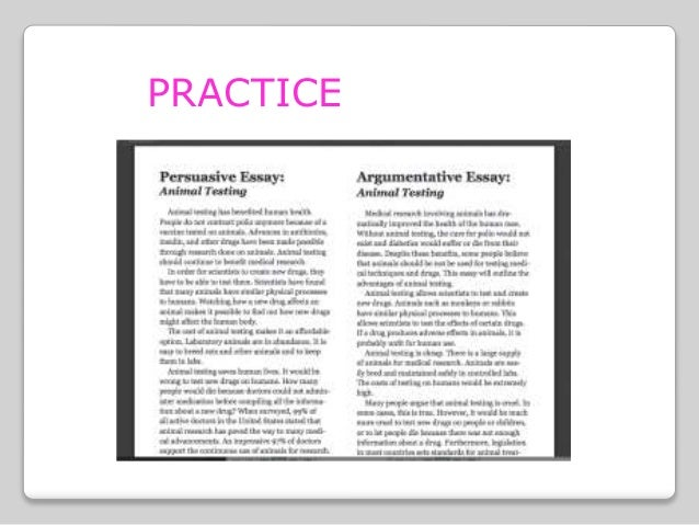 5 paragraph argument essay on animal testing Writing a persuasive essay for or against animal testing start your research here use these animal testing articles to help support your persuasive essay.