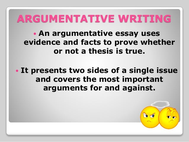 Argumentative essay thesis?