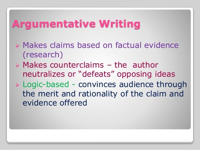 writing a narrative argument essay