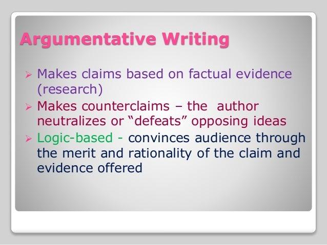 Compelling evidence argumentative essay