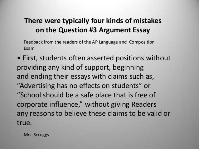 Argument analysis essay