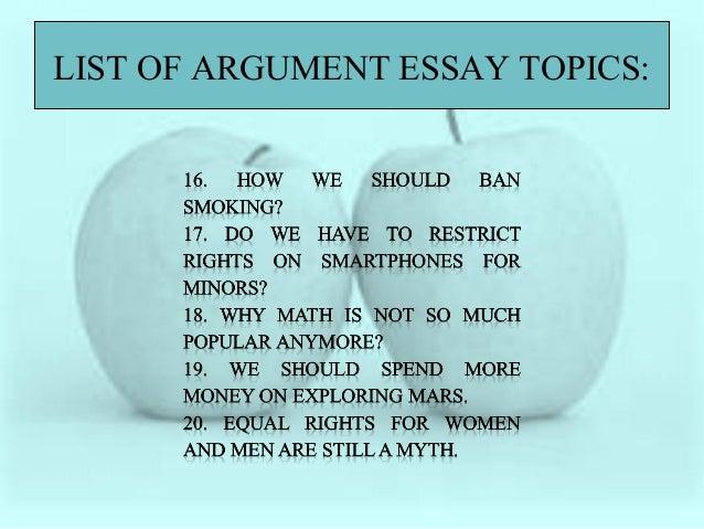 Argument topics