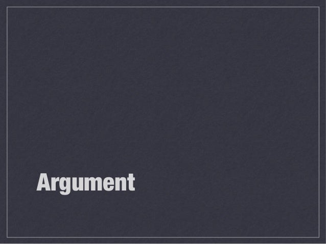 Argument in academic writing