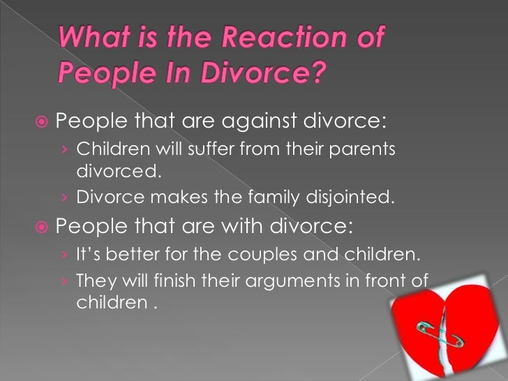 divorces have negative effects on children essay Divorce would have a more negative effect on children with high behavior problems than on those with low behavior problems [9] if the kid was already a troublemaker and not doing well in school then the divorce would give him a better excuse to fail in school.