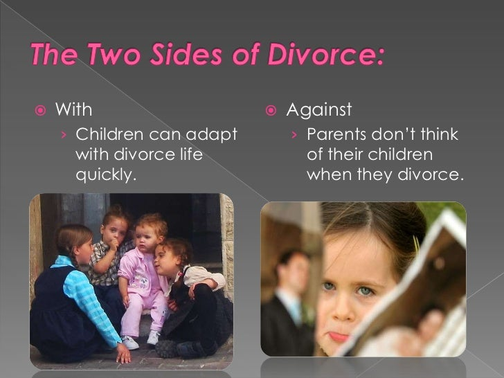 divorces effects on children essay