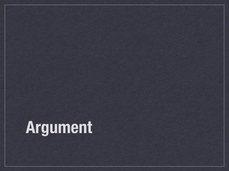 Argument notes