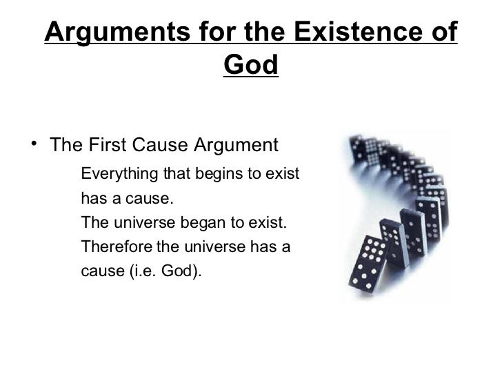 cause is the argument for gods existance