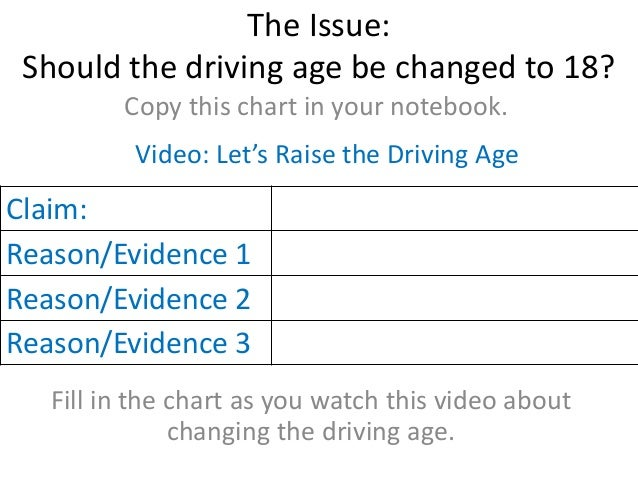 persuasive essay raising driving age 18 should the legal driving age be raised to 21 sign up to view the whole essay and download the pdf for anytime access on your computer, tablet or smartphone.