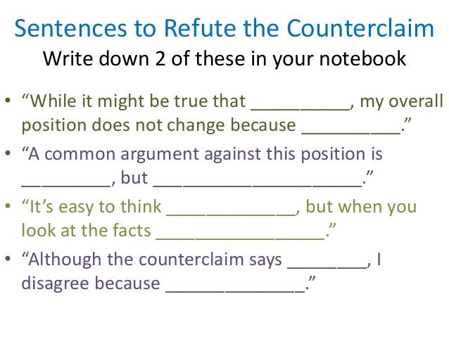 Identifying Refuting A Counterclaim Lessons Tes Teach