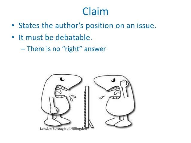 A claim in writing