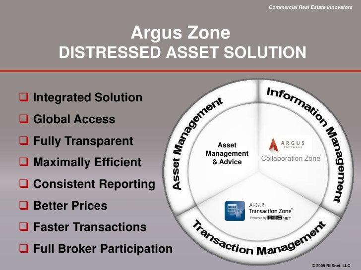 Argus-RIISnet Distressed Asset Solution