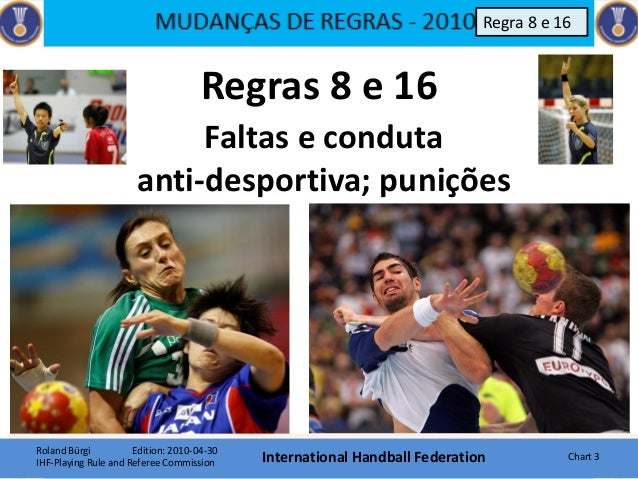 Regras 8 e 16 Roland Bürgi Edition: 2010-04-30 IHF-Playing Rule and Referee Commission International Handball Federation C...