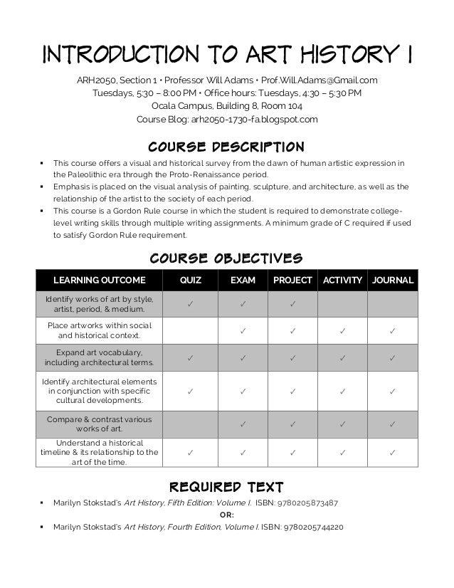 ARH2050 Syllabus