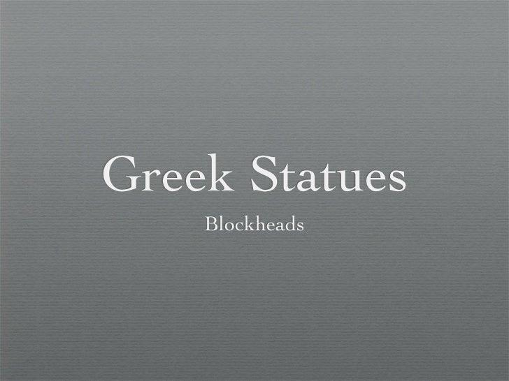Arh greek statues