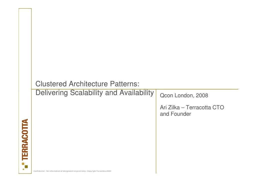 Ari Zilka Cluster Architecture Patterns