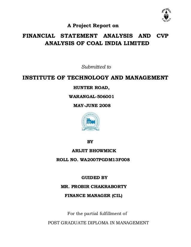 final project financial statement analysis of Quick analysis financial reports statement of income.