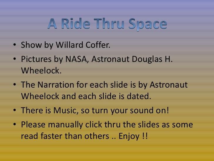 A Ride Thru Space